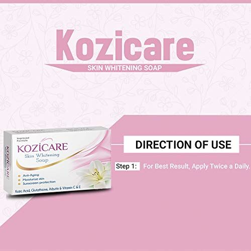 Kozicare Kojic Acid, Vitamin E, Arbutin Skin Whitening Soap, 75g (Pack of 3)