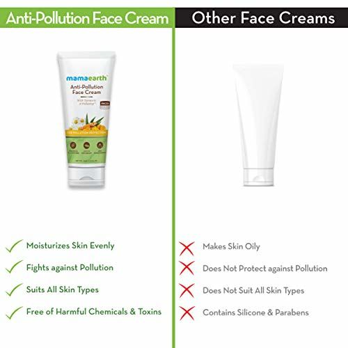 Mamaearth Anti-Pollution Daily Face Cream for Dry & Oily Skin with Turmeric & Pollustop For a Bright Glowing Skin 80ml