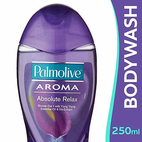 Palmolive Body Wash Aroma Absolute Relax, 250ml Bottle, Shower Gel with 100% Natural Ylang Ylang Essential Oil & Iris Extracts