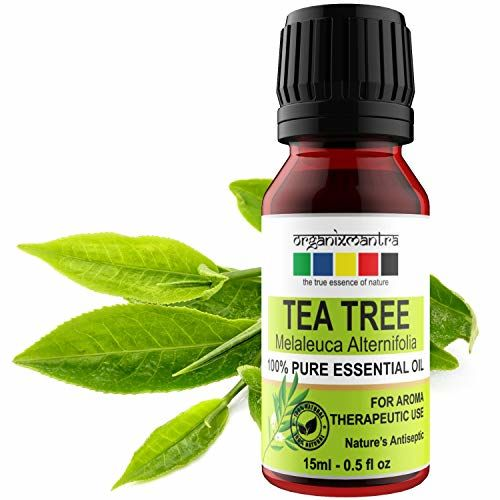 Organix Mantra Tea Tree Essential Oils for Skin, Hair, Face, Acne Care, 100% Pure, Natural and Undiluted Therapeutic Grade Essential Oil (Tea Tree 15ML)