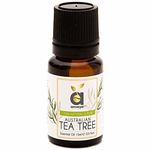Anveya Australian Tea Tree Essential Oil, 100% Natural & Pure, 15ml, for Acne, Pimples, Scars, Skin, Face, Hair care & Dandruff