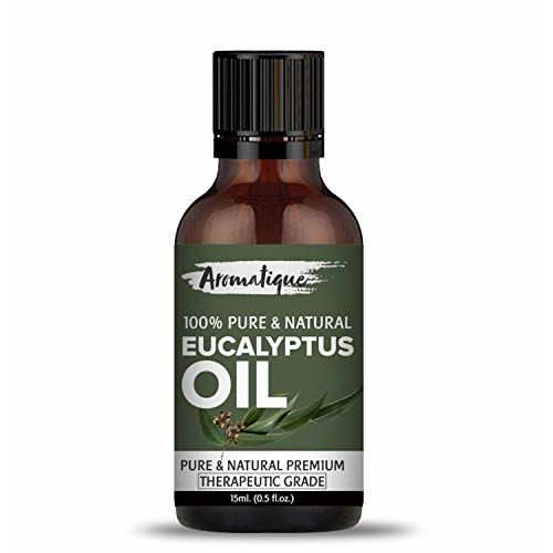 Aromatique Eucalyptus Oil for Cold and Cough.100% Pure & Undiluted Therapeutic Grade (15ml)