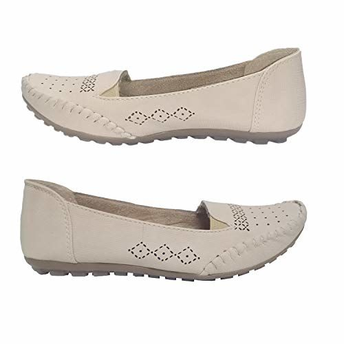 Saanvishubh Synthetic Leather Belly for Girls and Women (EU-39, Cream)