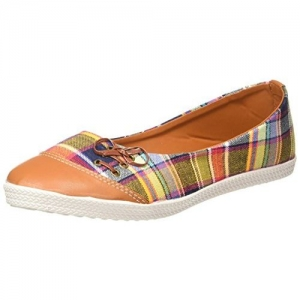 Kanvas Katha Women's Multicolor Ballet Flats - 3 UK/India (36 EU)(KKFTPLDOCT006)