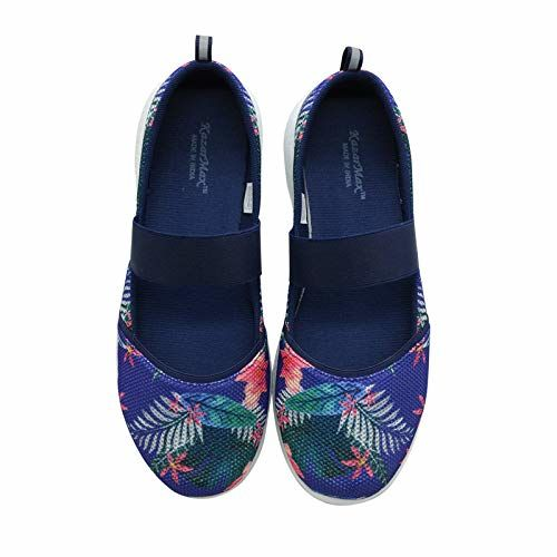 KazarMax Women's and Girl's Navy Floral Air Cooled Memory Foam Latest Collection,Comfortable Ballet Flat's Ballerinas/Bellies (Made in India) Size:-40