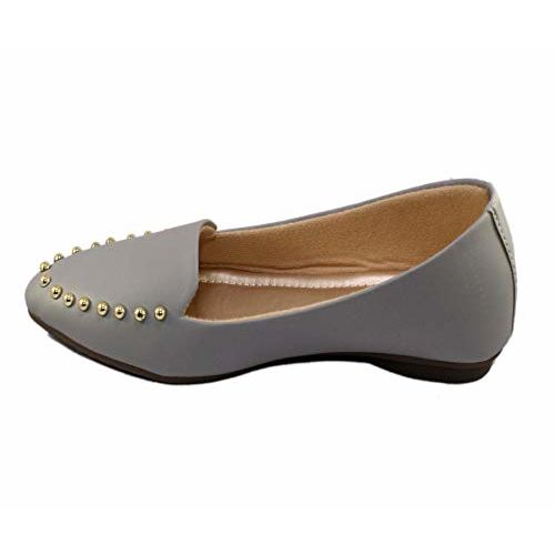 SKOLL Women Pointed Loafer Ballet Flats Grey