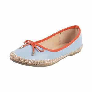 Mochi Women's Orange Ballet Flats-7 UK (40 EU) (31-9671)