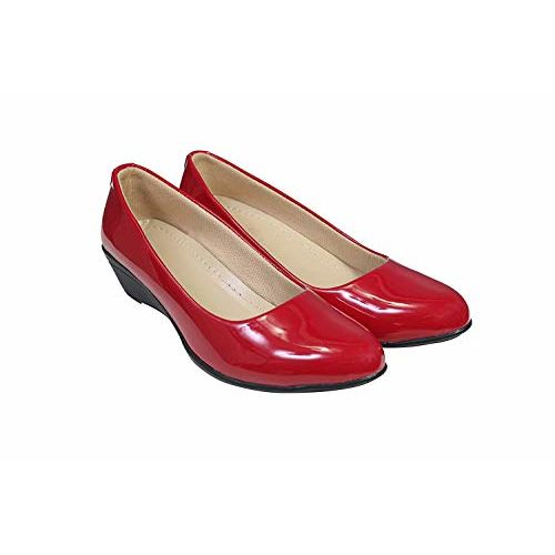 KOMOPT Red Colour Synthetic Material Casual/Formal Bellies for Women - Formal Belly for Girls with Low Heel (8)