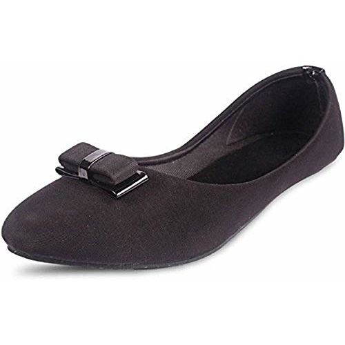 BABES 002 Women's Stunning Faux Leather Bow Front Bellies (6 UK) -Combo of 3
