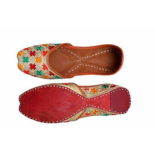Tashi Women's and Girls Fabric Jutti/Mojari in Multi Color Ethnic Style