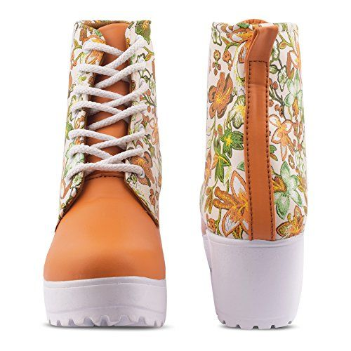 KRAFTER Latest Collection, Comfortable & Fashionable Sneaker Boots for Women's and Girl's