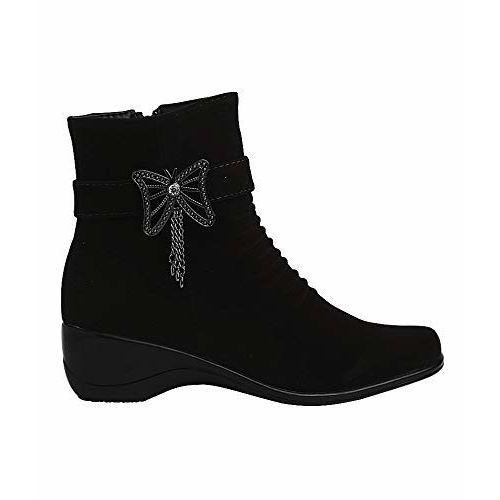VIR SPORT Black Synthetic Women Boots (Size: 40)