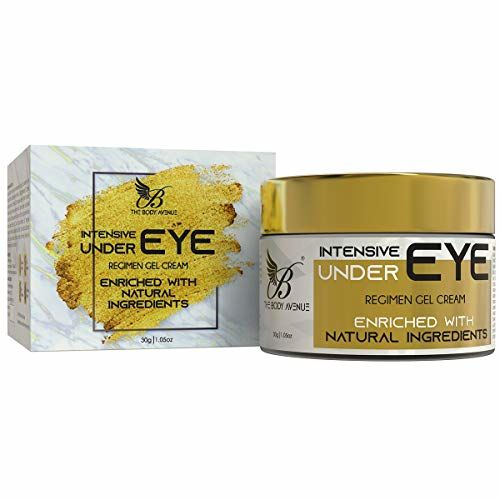 The Body Avenue Under Eye Gel Cream for Dark Circles, Fine Lines, Wrinkles, Puffiness with Cucumber, Green Tea, Aloevera - 30g