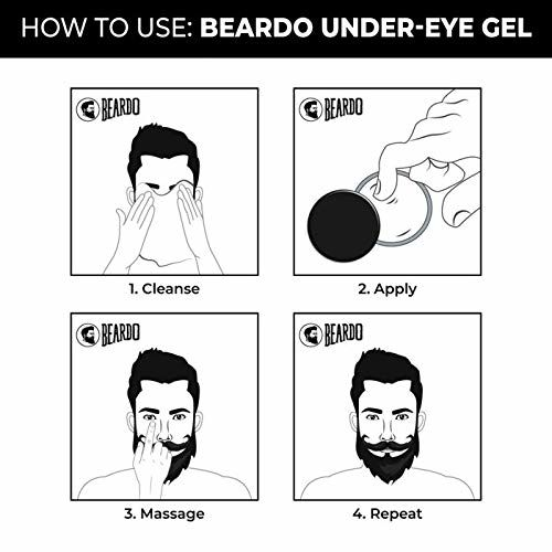 Beardo Under Eye Gel For Men, 12 gm | For Dark Circles | Puffiness | Made in India