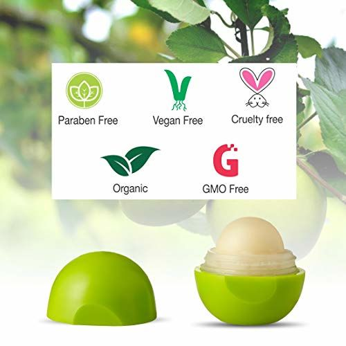Organic Harvest Lip Balm For dry & Chapped Lips, ECOCERT & PeTA Certified, Paraben & Sulphate Free - 10gm (Green Apple)