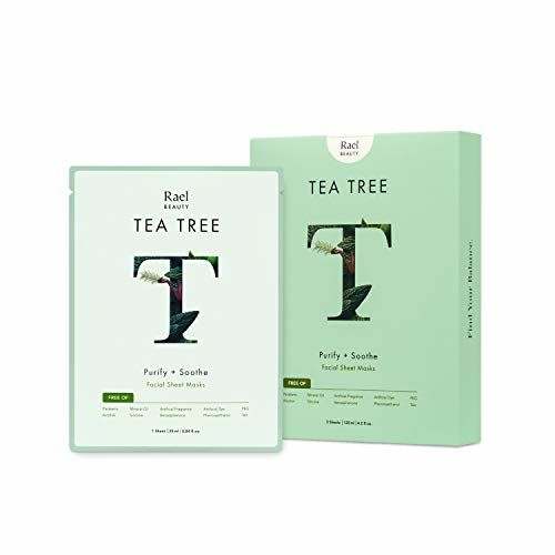 Rael Fresh Forward Face Mask Sheet With Tea Tree Oil, Clarifying And Soothing Face Mask For Acne Prone Skin, Infused With Tea Tree Oil And Botanical Extracts, 5 Piece