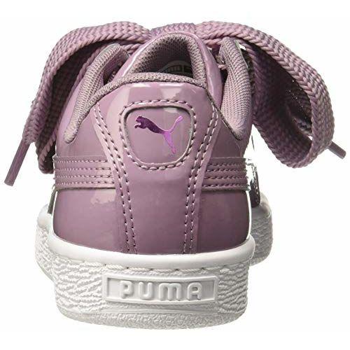 Puma Women's Basket Heart Patent Wn s Purple Sneakers-7 UK/India (40.5 EU) (4060978894090)