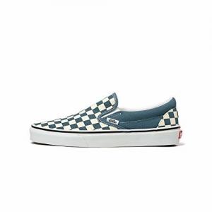 Vans Unisex's Classic Slip-On Chb Blu Mrg/True Wht Sneakers-10 UK (44 EU) (11 US) (71002328)