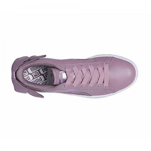 Puma Women's Basket Bow Satin Wn s Purple Leather Sneakers-3 UK/India (35.5 EU) (4060978992130)