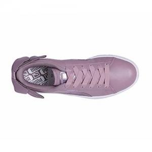 Puma Women's Basket Bow Satin Wn s Purple Leather Sneakers-3 UK/India (35.5 EU) (4060978992130)