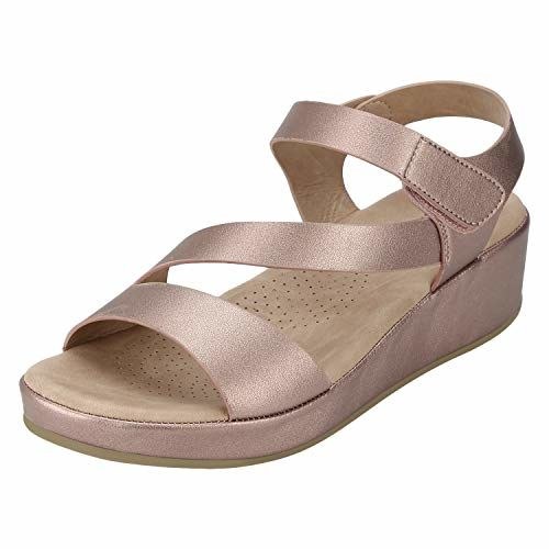 Mode By Red Tape Women's Pink Fashion Sandals-6.5 UK (40 EU) (MRL1235-40)