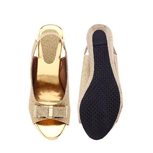 Shoe Lab Golden Rod Traditional Sandals (Sl_Wedges_gltie00134)