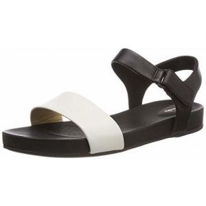 Clarks Women's Bright Pacey White Leather Fashion Sandals-4 UK/India (37 EU) (91261412584040)