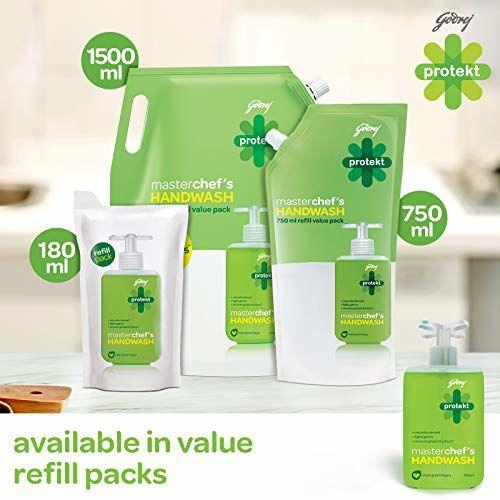 Godrej Protekt Masterchefs Germ Protection Liquid Handwash Refill, 1500ml