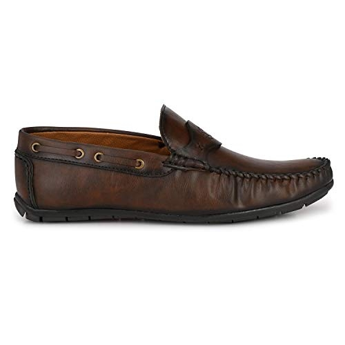 Prolific Brown Synthetic Leather Slip On Loafer