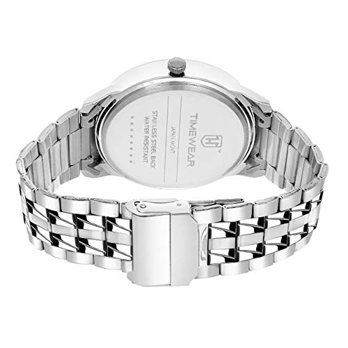 TIMEWEAR Round Stainless Steel Analogue Watch