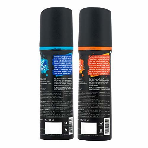 Set Wet Sporty and Fresh Avatar No Gas Perfume Spray, 120 ml (Pack of 2)