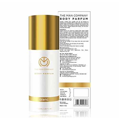 The Man Company Non-Gas Body Perfume For Men - Blanc (120 Ml) | Made in India