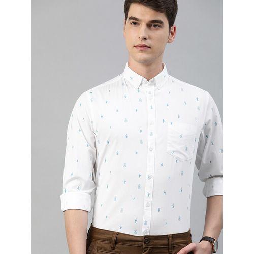 TrueModa white printed casual shirt