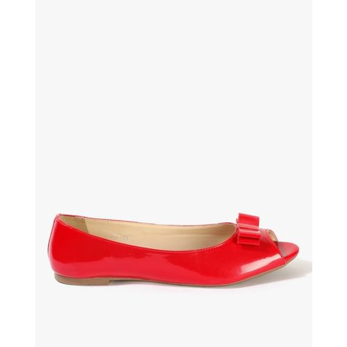 Carlton London Peep-Toe Shoes with Bow Accent