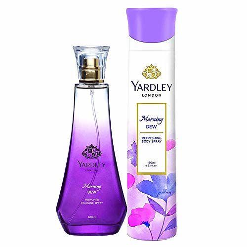 Yardley London Morning Dew Daily Wear Perfume for Women, 100ml + Yardley London Morning Dew Refreshing Deo for Women, 150ml