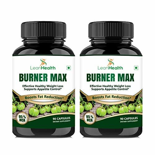 LeanHealth Burner Max Garcinia Cambogia Supplement For Men & Women Supports Weight Loss, Fat Reduction Naturally- 800 Mg 2X90 Veg Capsules