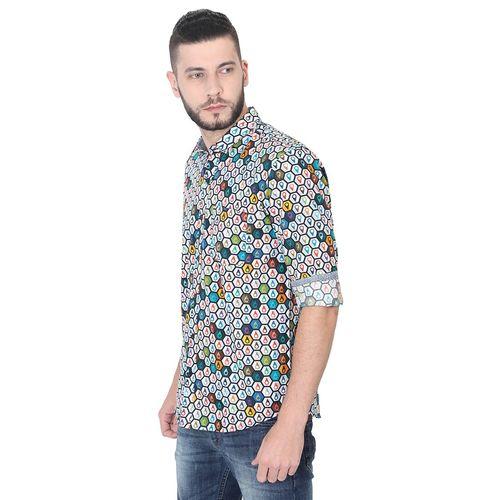 GUNIAA multi colored printed casual shirt