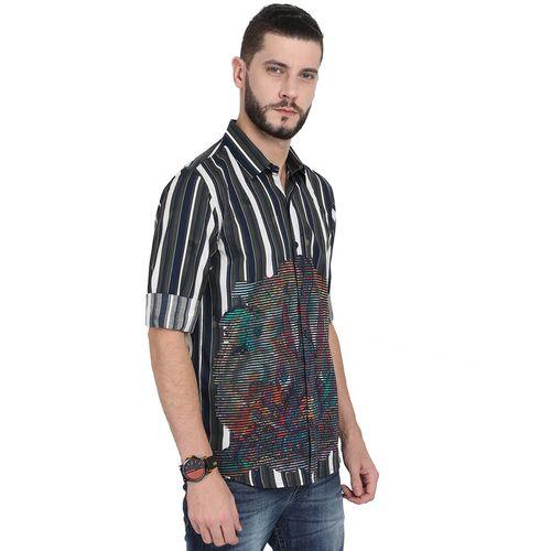 GUNIAA multi colored striped casual shirt
