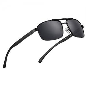 ROYAL SON Black  UV Protected Polarized Unisex Sunglasses