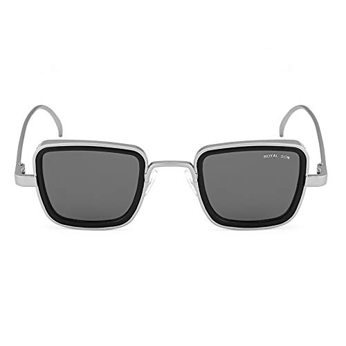 Royal Son Black UV Protected Polycarbonate Unisex Sunglasses