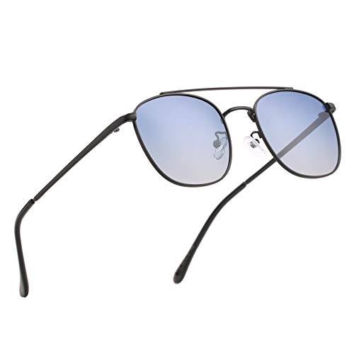 ROYAL SON Blue Unisex Retro Square Sunglasses Aviator Goggles