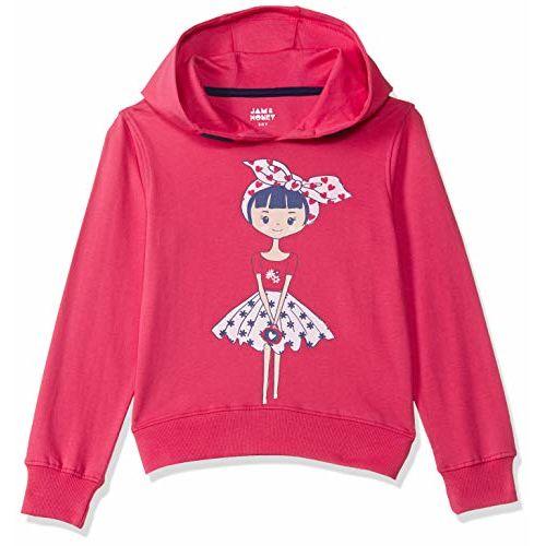 Amazon Brand - Jam & Honey Girls' Lightweight Sweatshirt