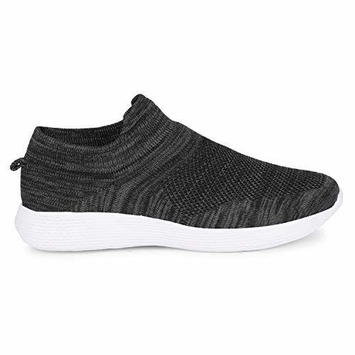 Kraasa Socksfit Sports Shoes for Men | Walking Shoes | Casual Sneakers | Running Shoes for Men Black