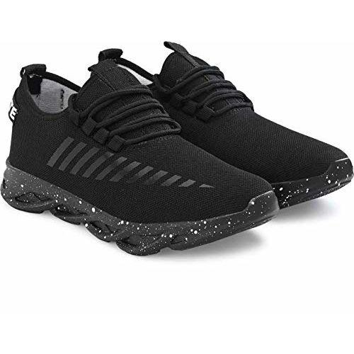 layasa Men's Air Series Mesh Casual,Walking,Running/Gymwear Shoes Black