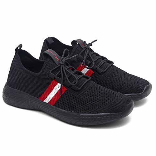ASIAN Men's Century-04 Back Running,Walking,Sports Shoes UK-6 Black