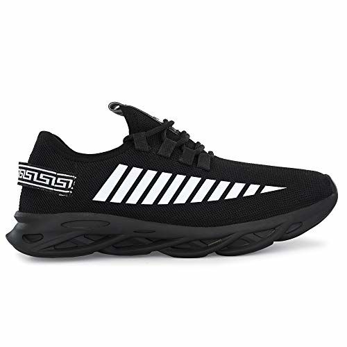 BUCADIA Black Canvas Lace UP Running Shoes