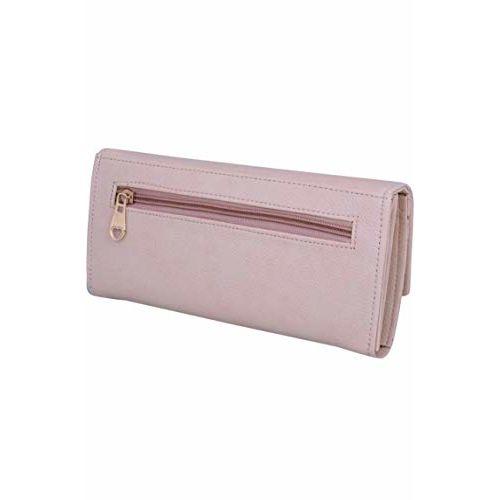 Generic Womens pink flap hand purse clutch