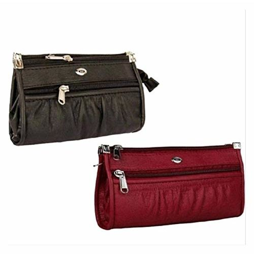Generic Casual and Party Cultches/Handbag/Purse/Walllet For Woman & Girls With Combo Set (Red & Black)