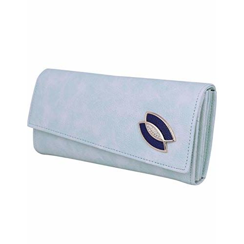 Generic Sky Blue Flap Wallet