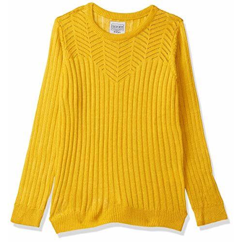 CHEROKEE Girl's Wool Cardigan (280205093_Mustard_08Y_FS